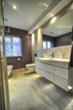 fitted bathroom wetroom featuring Laufen and Mira products